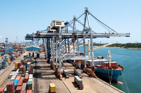 Container terminal at Port of Dar es Salaam, appearing in Africa PORTS & SHIPS