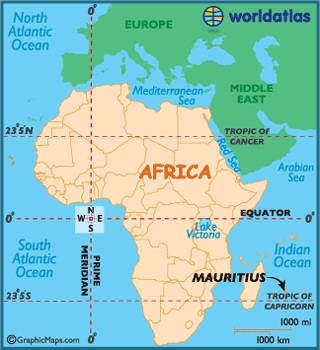 Indian Ocean and Mauritius, appearing in Africa PORTS & SHIPS