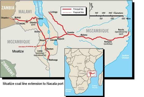 Nacala port and rail corridor. Appearing in Africa PORTS & SHIPS
