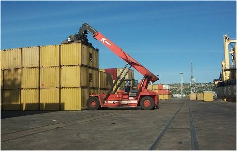 Nacala container terminal. Appearing in Africa PORTS & SHIPS
