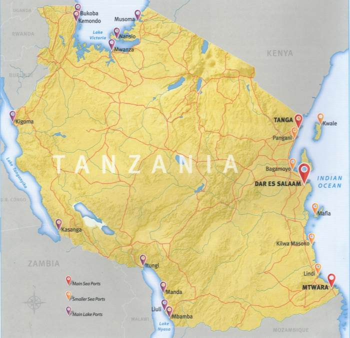 Ports & Harbours of Tanzania, appearing in Africa PORTS & SHIPS