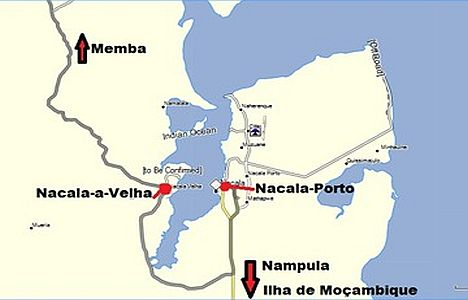 Nacala Bay and port, appearing in Africa PORTS &SHIPS