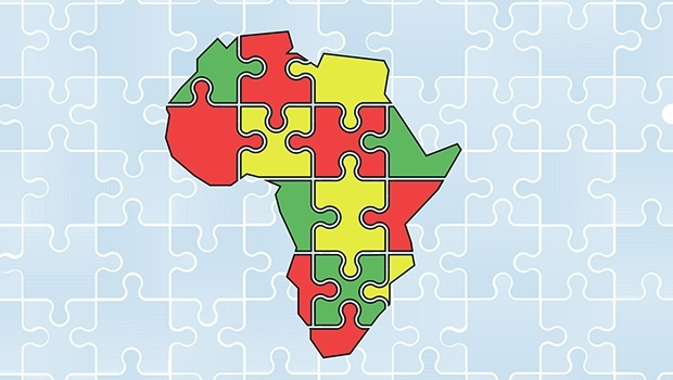 African map puzzle