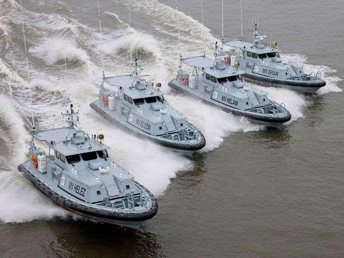 Nigerian Navy patrol boats