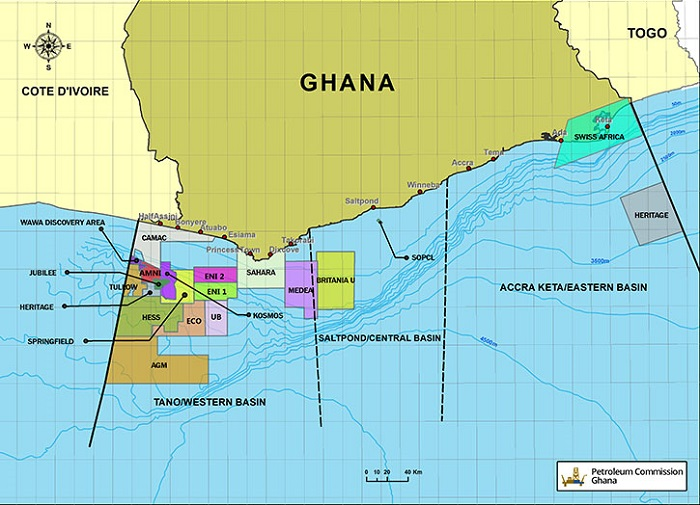 Ghana's TEN and Jupiter oilfields