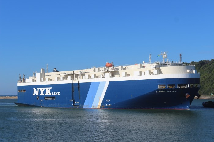 K-Line's car carrier Jupiter Leader