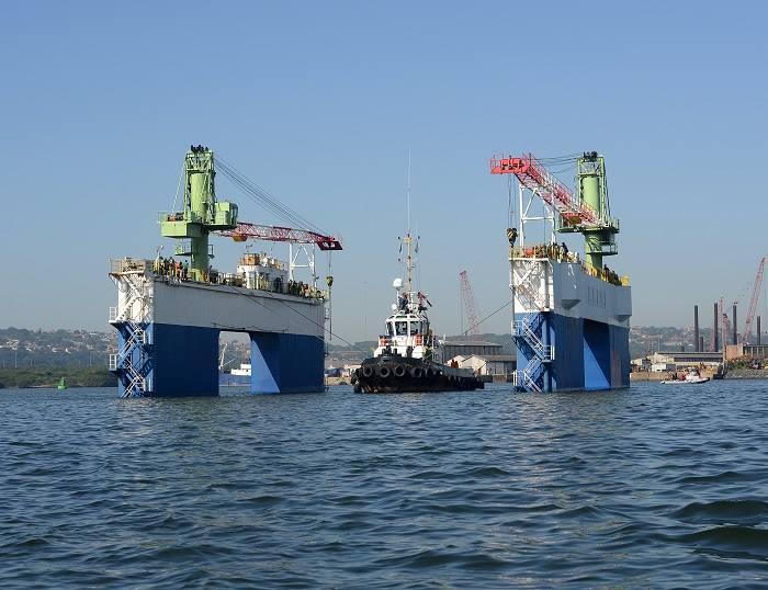 SA Shipyards floating dock and tug Save River