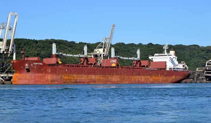 bulk carrier Sentinel in Durban. Pic by Ken Malcolm