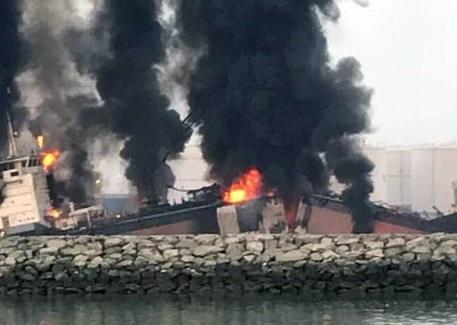 fire on tanker Ebrahim 1