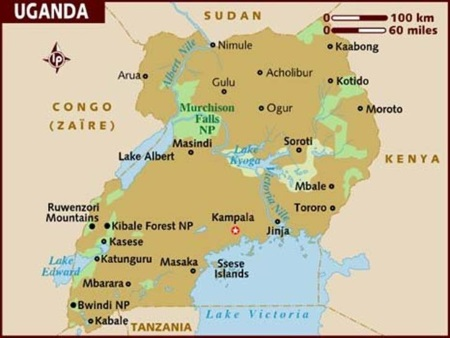 Lake Victoria On Map Of Africa.Uganda Tanzania Lake Victoria And Pipeline Map 450 Africa Ports