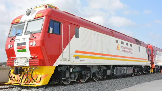 new Kenya Railway SGR locomotive