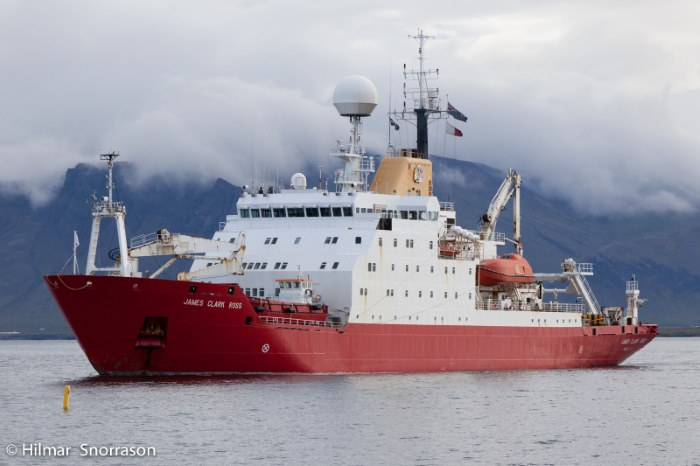 RSS James Clark Ross. Picture: Hilmar Snorrason/Shipspotting, appearing in Africa PORTS & SHIPS maritime news