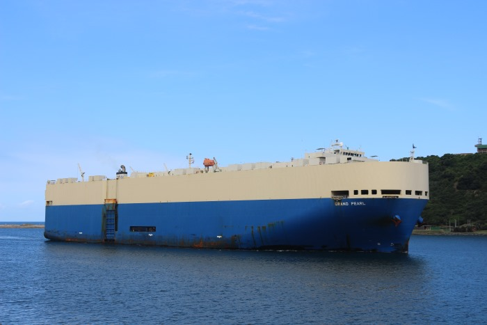 Car carrier Grand Pearl arriving in Durban, in Africa PORTS & SHIPS maritime news. Picture: Keith Betts