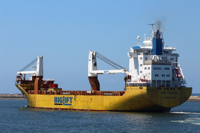 Heavylift Happy Diamond sailing from Durban March 2017, by Keith Betts in Africa PORTS & SHIPS maritime news