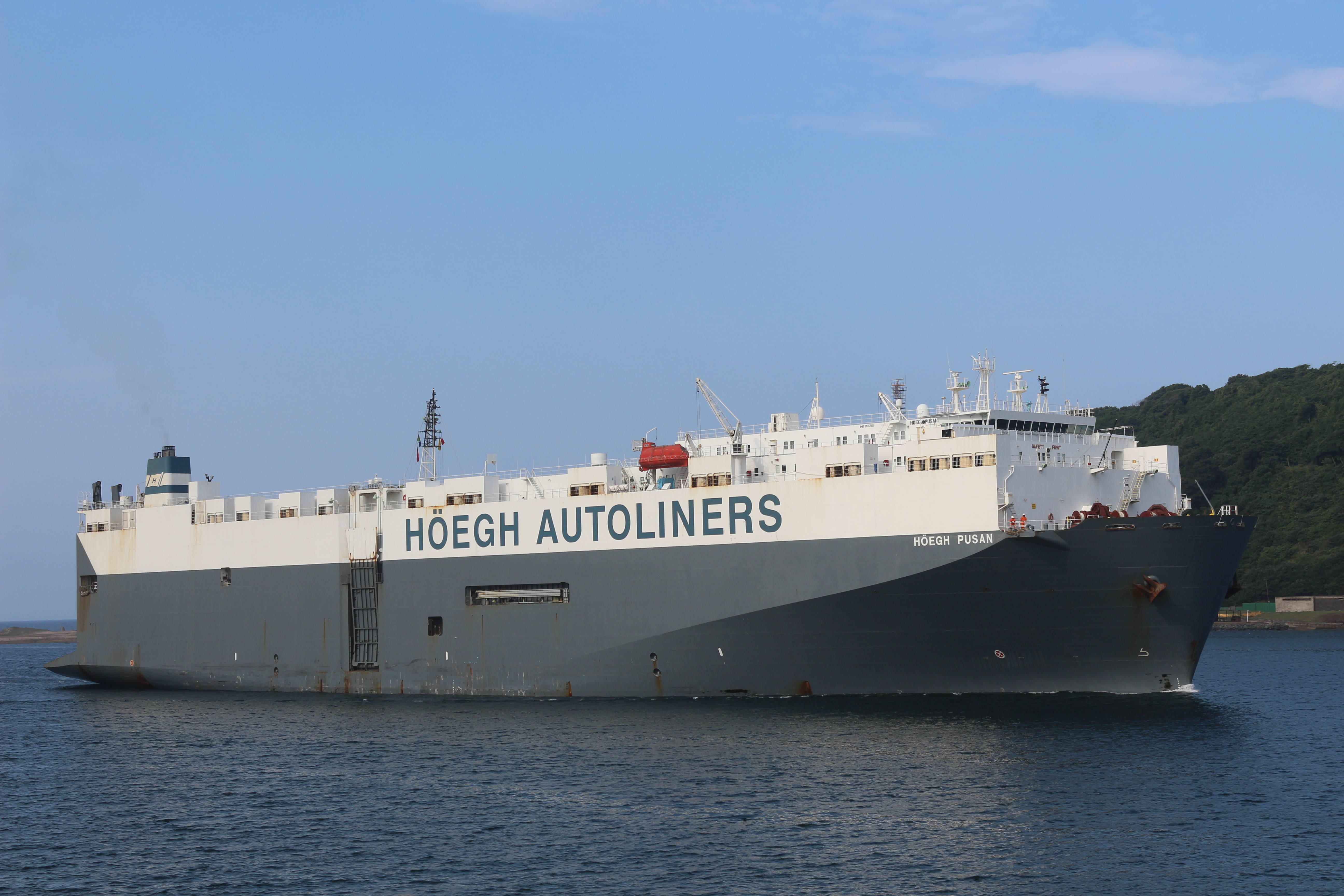 Hoegh Pusan arrives Durban, pic by Keith Betts
