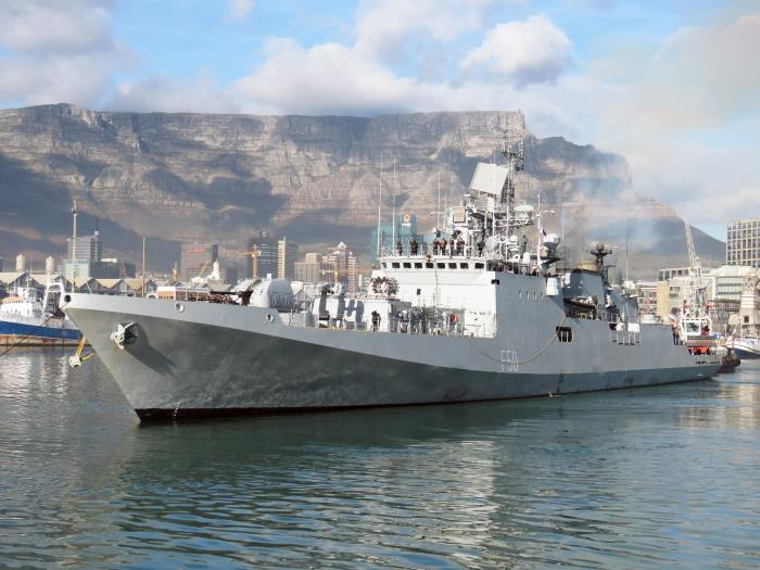 INS Tarkash. Pictures: Ian Shiffman, appearing in Africa PORTS & SHIPS maritime news