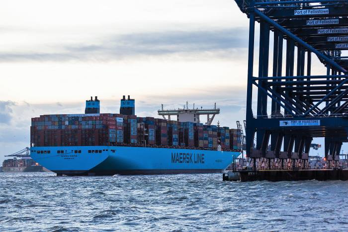 Madrid Maersk at Felixstowe, in Africa PORTS & SHIPS maritime news