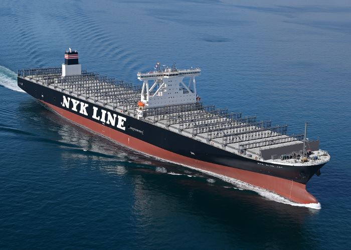 NYK container ship Blue Jay