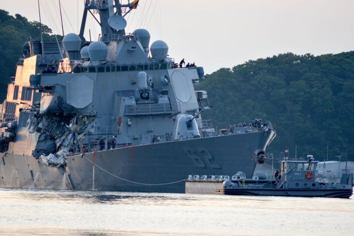 USS Fitzgerald. USNavy pic, appearing in Africa PORTS & SHIPS Maritime News