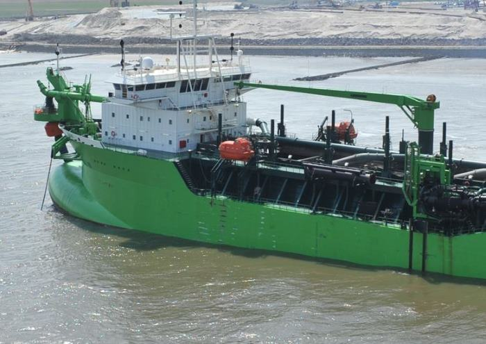 DEME dredger at Monrovia, appearing in Africa PORTS & SHIPS maritime news