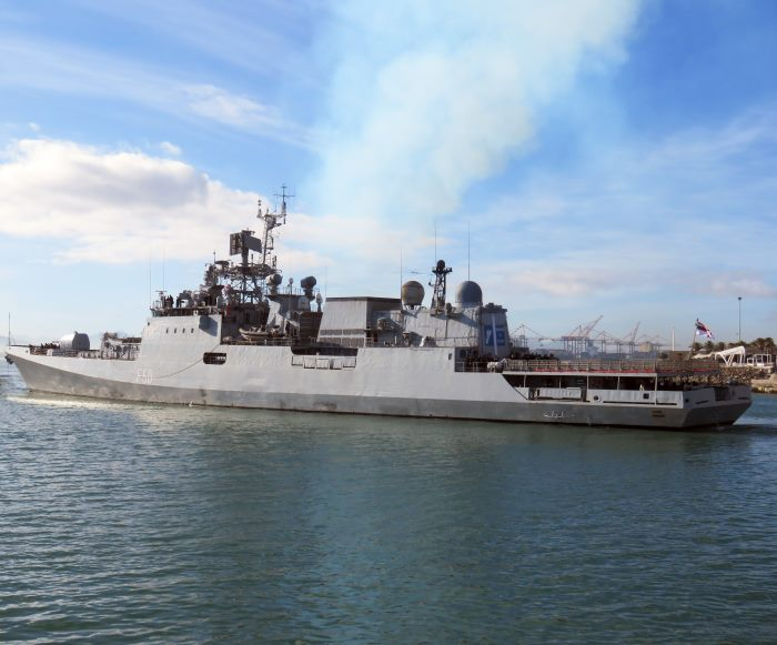 INS Tarkash in Cape Town. Pictures: Ian Shiffman and appearing in Africa PORTS & SHIPS maritime news