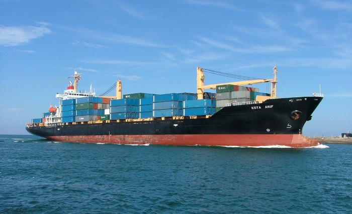 PIL container ship KOTA ARIF in Durban. Picture: Terry Hutson, appearing in Africa PORTS & SHIPS maritime news