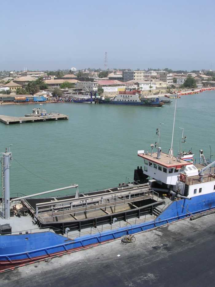 The port of Banjul in The Gambia. Picture: OTAL, appearingin Africa PORTS & SHIPS maritime news