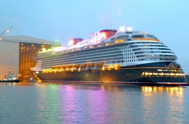 Disney Dream floating out 2011, appearing in Africa PORTS& SHIPS maritime news