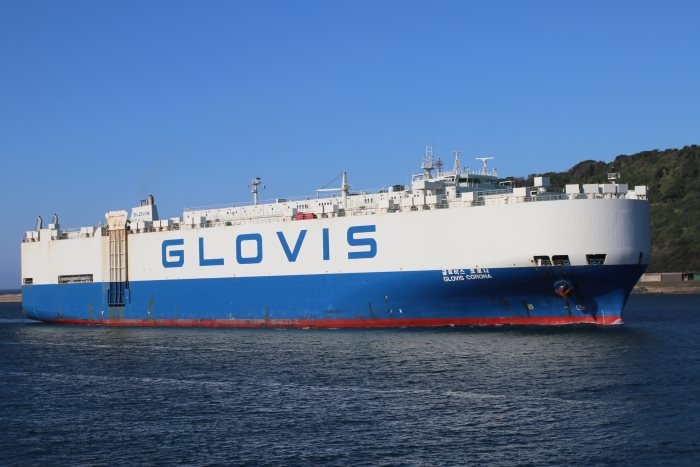 Glovis Corona in Durban. Picture: Keith Betts, sppearing in Africa PORTS & SHIPS maritime shipping news