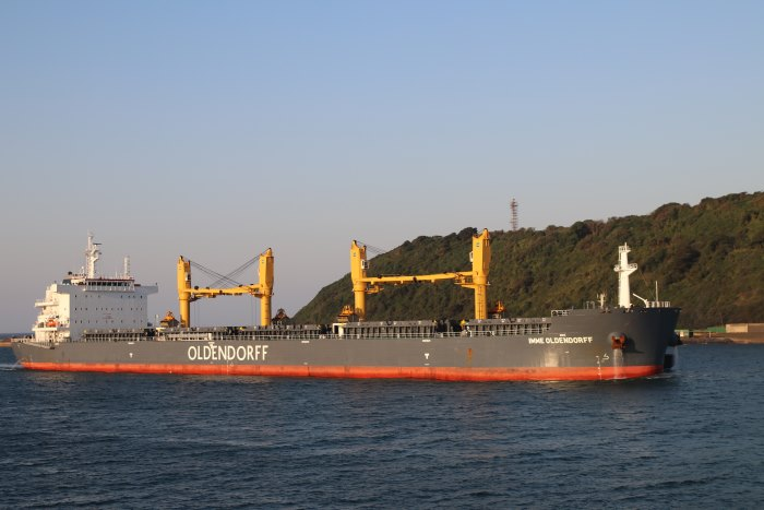 Imme Oldendorff arriving at Durban. Picture: Keith Betts, appearing in Africa PORTS & SHIPS maritime news