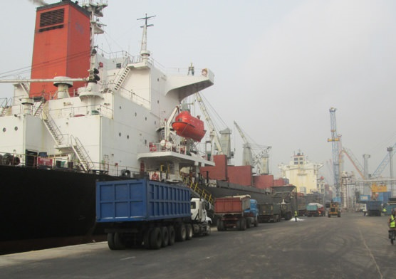 JPS dry dulk terminal at Tin Can Island. Apperaing in Africa PORTS & SHIPS maritime news