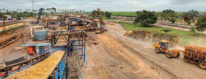 sugar mill scene in Mozambique, appearing in Africa PORTS & SHIPS maritime news