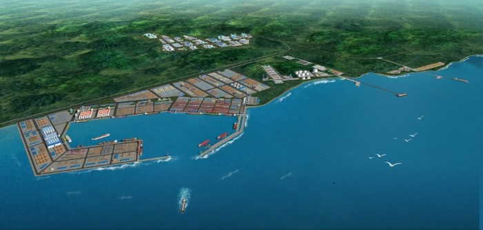 Kribi port and container termina in Cameroon, appearing in Africa PORTS & SHIPS maritime news