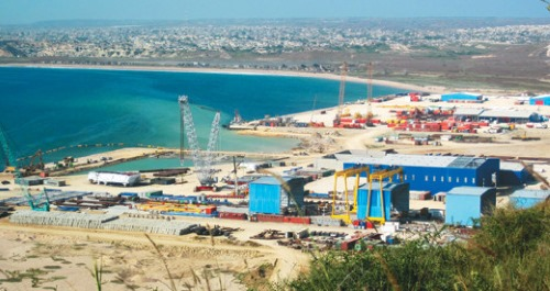 Porto Amboim, the port and town, appearing in Africa PORTS & SHIPS maritime news