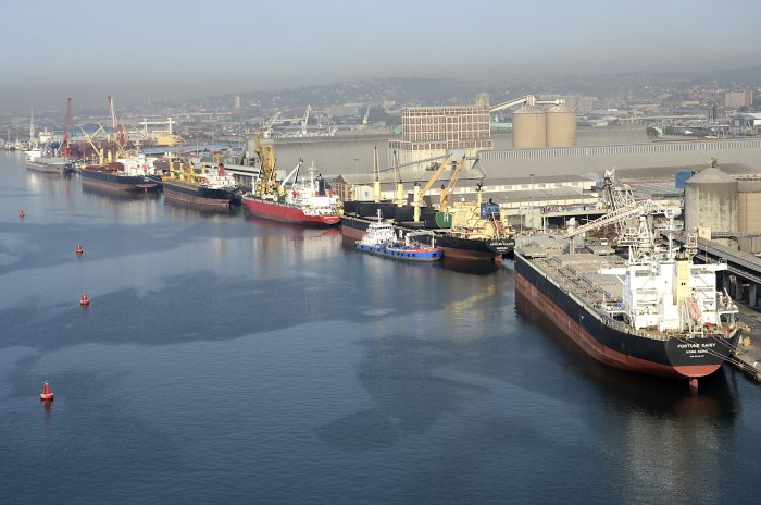 Busy Port: Maydon Wharf berths 6-11. Picture: Chris Hoare, appearing in Africa PORTS & SHIPS maritime news