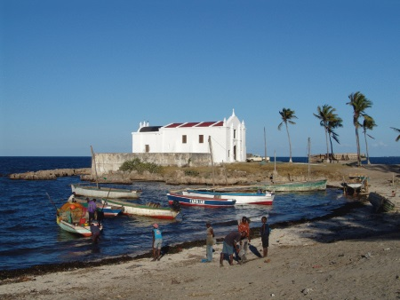 Church of San Antonio on Isla de Mocambique, appearing in Africa PORTS & SHIPS maritime news