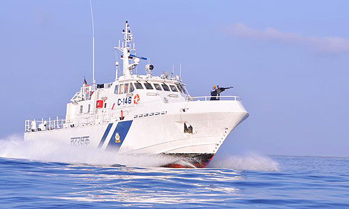 Goa-built patrol boat MCGS Victory, appearing in Africa PORTS & SHIPS maritime news