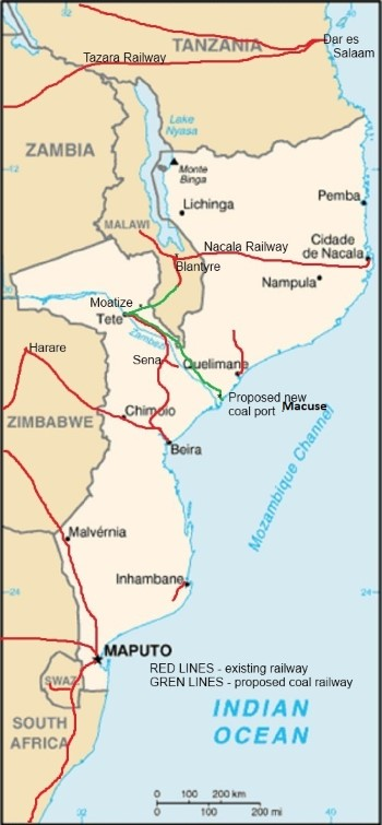 Mozambique railways, appearing in Africa PORTS & SHIPS maritime news