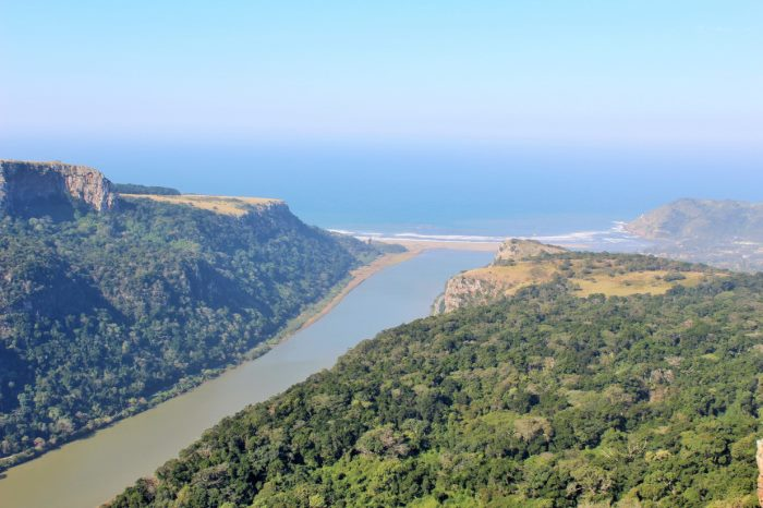Port St Johns and the Umzimvubu River, appearing in Africa PORTS & SHIPS maritime news