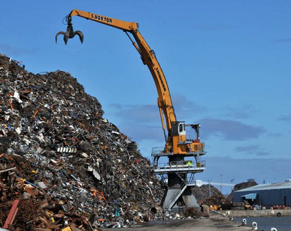 scrap at the harbours, appearing in Africa PORTS & SHIPS maritime news