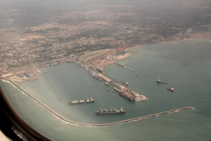 aerial view of Takoradi, appearing in Africa PORTS & SHIPS maritime news