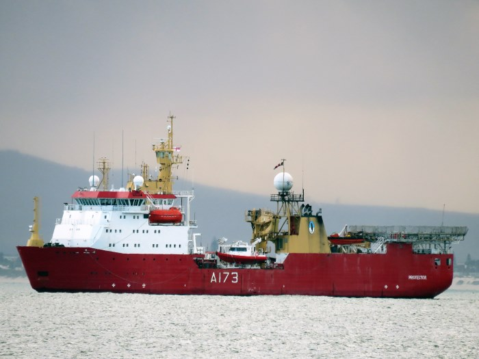 HMS Protector. Picture: Ian Shiffman, appearing in Africa PORTS & SHIPS maritime news
