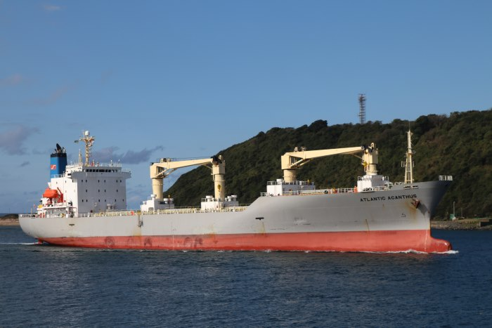 Atlantic Acanthus. Picture: Keith Betts, appearing in Africa PORTS & SHIPS maritime news