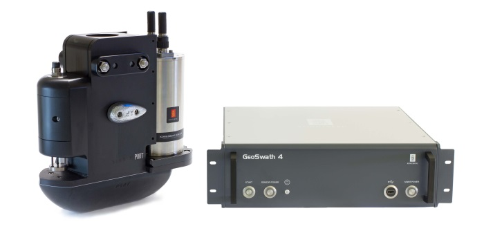 Kongsberg's GeoAcoustics Geoswath 4 offers efficient simultaneous swath bathymetry and side scan seabed mapping, appearing in Africa PORTS & SHIPS maritime news
