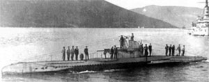 UB II type German submarine from World War 1, appearing in Africa PORTS & SHIPS maritime news