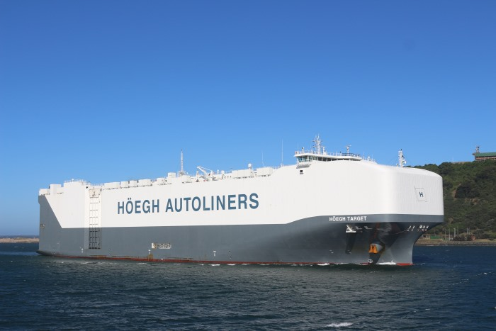 Höegh Target in Durban in February 2017. Picture: Keith Betts, appearing in Africa PORTS & SHIPS maritime news