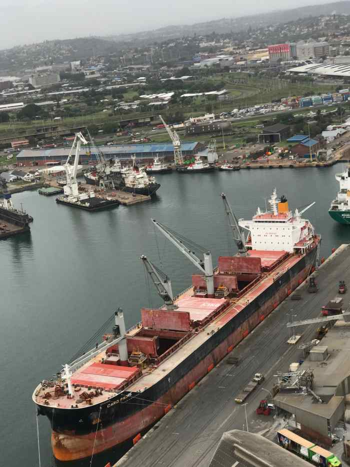 Caro Padre at Maydon Wharf 14. Picture: Anup Rampiar, appearing in Africa PORTS & SHIPS maritime news