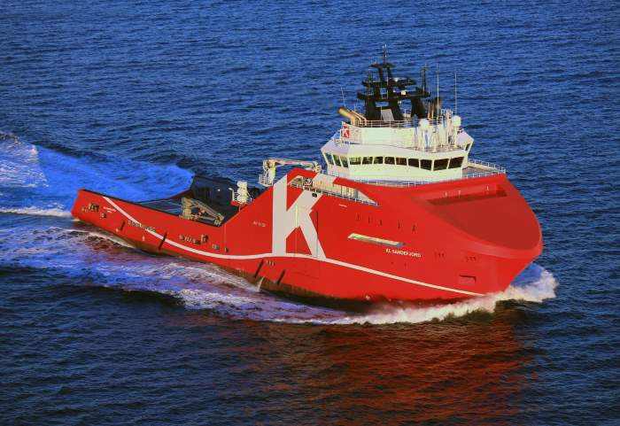 The offshore vessel KL Sandefjord, as appearing in Africa PORTS & SHIPS maritime news