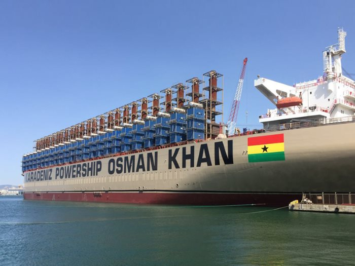 Karpower's 450MW Osman Khan now in Tema, appearing in Africa PORTS & SHIPS maritime news