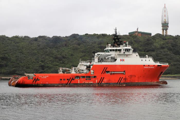 Pacific Diligence and Tina at Durban, appearing in Africa PORTS & SHIPS maritime news